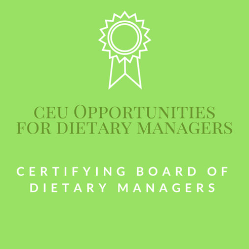 Certifying Board of Dietary Managers