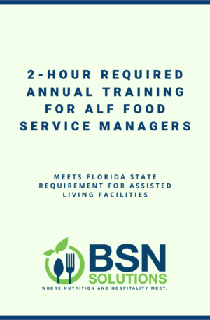 Training for ALF Food Service Managers