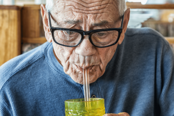 drinking-water-with-straw